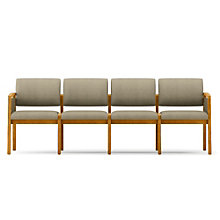 Lenox Panel Arm Four Seat Fabric Sofa, LES-L4131G6F