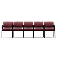 Lenox Panel Arm Five Seat Fabric Sofa with Center Arms, LES-L5133G6F