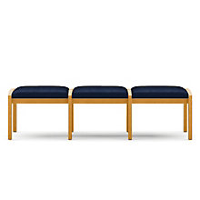Lenox Three Seat Fabric Bench, LES-L3001B5F