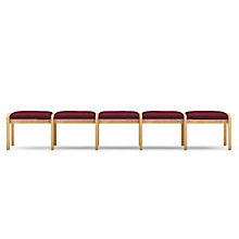 Lenox Five Seat Fabric Bench, LES-L5001B5F