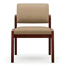 Lenox Panel Arm Armless Vinyl Guest Chair, 8825902