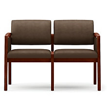 Lenox Panel Arm Two Seat Vinyl Sofa, LES-L2131G6V