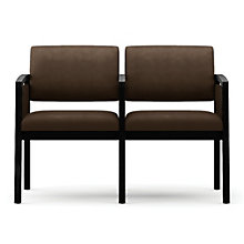 Lenox Panel Arm Two Seat Vinyl Sofa with Center Arm, LES-L2133G6V