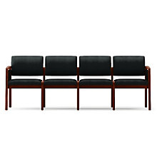 Lenox Panel Arm Four Seat Vinyl Sofa, 8825903
