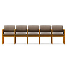 Lenox Panel Arm Five Seat Vinyl Sofa with Center Arms, 8825926