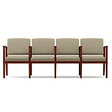 Amherst Four Seat Fabric Sofa with Center Arms, LES-K4403G5F