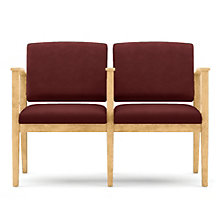 Amherst Two Seat Vinyl Loveseat with Center Arm, LES-K2403G5V