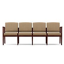 Amherst Four Seat Vinyl Sofa, LES-K4401G5V
