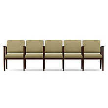 Amherst Five Seat Vinyl Sofa with Center Arms, LES-K5403G5V