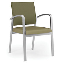 Newport Guest Chair with Fabric Back and Vinyl Seat, 8802991