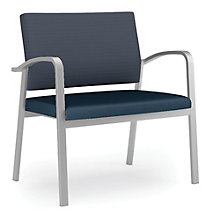 Newport Bariatric Guest Chair with Fabric Back and Vinyl Seat, 8802995