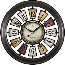 """Colorful Numeral Plaques Clock - 22.5"""", 8813474"""
