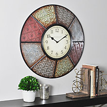 "Patchwork Wall Clock - 20.5"", 8813476"