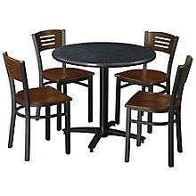 "36"" Round Table with 4 Cafe Chairs, 8813424"