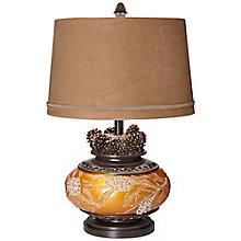 "Tl-26"" Amber Pinecone Lamp, 8819803"