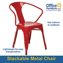 Patterson Break Room Chair in Metal, 8802385