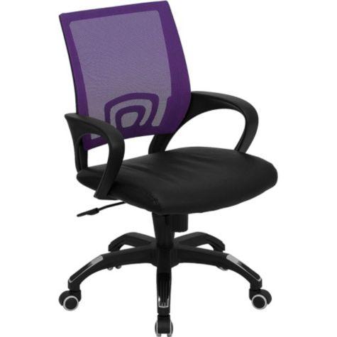 Shown in purple