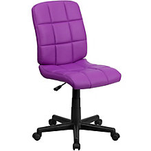 Simmons Armless Quilted Cushion Task Chair in Vinyl, 8803019