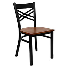 Jackson Cross Back Cafe Chair with Wood Seat, 8803709