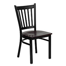 Jackson Vertical Slat Back Cafe Chair with Wood Seat, 8803717