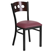 Jackson Triple Circle Back Cafe Chair with Vinyl Seat, 8803722