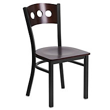 Jackson Triple Circle Back Cafe Chair with Wood Seat, 8803723