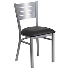 Jackson Metal Slat Back Cafe Chair with Vinyl Seat, 8803730