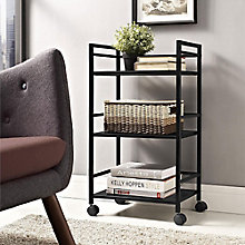 Three-Shelf Metal Cart , 8803957