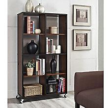Mason Ridge Eight Shelf Mobile Bookcase , 8803958