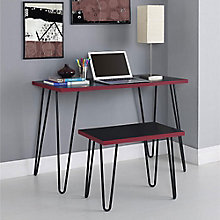 Owen Collection Retro Desk and Stool Set, 8803963