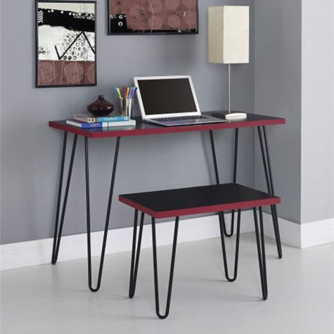 Red & Black finish shown in room scene with stool