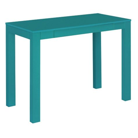 Profile view of teal finish shown
