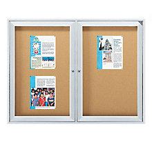 Enclosed Bulletin Board 5'W x 4'H, 8804202