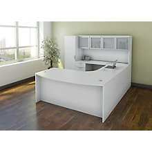 Bow Front U-Desk with Hutch and Personal Storage Unit, 8826860