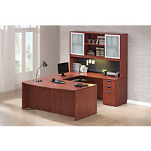 Tall Hutch Reversible Bow Front U-Desk, 8827202
