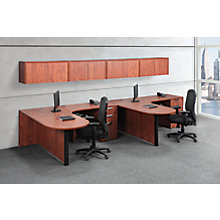 2 Person Peninsula Desk - Wall Mount Storage - Left or Right Return, 8827203