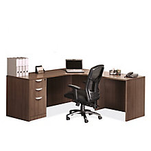 Extended Corner Credenza L-Desk - Left or Right Return, 8827454