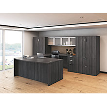U-Desk with Hutch and Dual File Storage Towers -  Reversible, 8827468