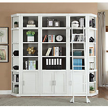 Compact Library Wall w/Ladder, 8827492