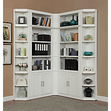 Compact Corner L Shaped Library Wall, 8827496