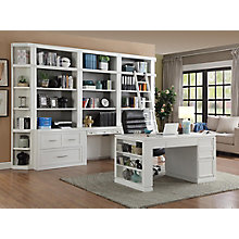 "Library Wall with 2 Laterals Credenza Desk and Standalone 60"" Desk, 8827498"