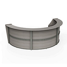 """Curved Triple Reception Station - 143""""W x 71""""D, 8827527"""