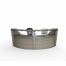 "Curved Double Reception Station with Plexi - 124""W x 49""D, 8827530"