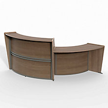 "Curved Two Piece ADA Reception Station - 116""W x 49""D, 8827535"