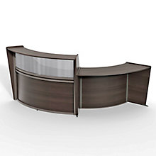 "Curved Two Piece ADA Reception Set with Plexi - 116""W x 49""D, 8827537"