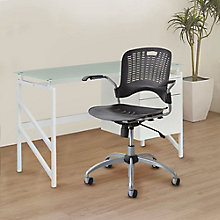Glass Top Desk w/Swivel Chair, 8828737