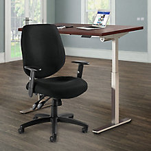 "Adjustable Height 48""x30"" Desk and Chair Set, 8828801"
