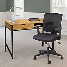 Writing Desk with Chair and Lamp Set, 8828812