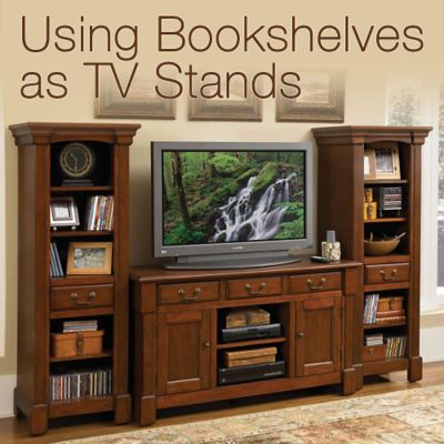 using bookshelves as tv stands | officefurniture