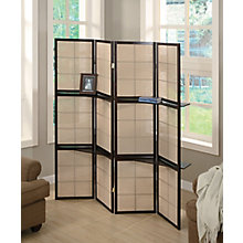 Four Panel Folding Screen With Removable Shelves, 8824659